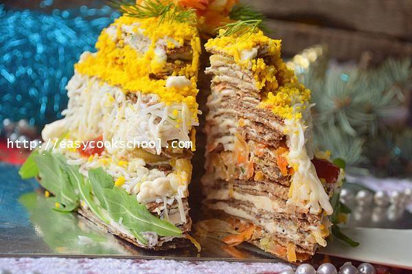Печеночный торт из куриной печени: рецепт с фото пошагово | Легкие рецепты