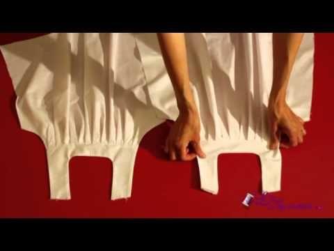 Patron/tuto robe - Création d'une robe à plis étape par étape ( bien explique pour la doublure)