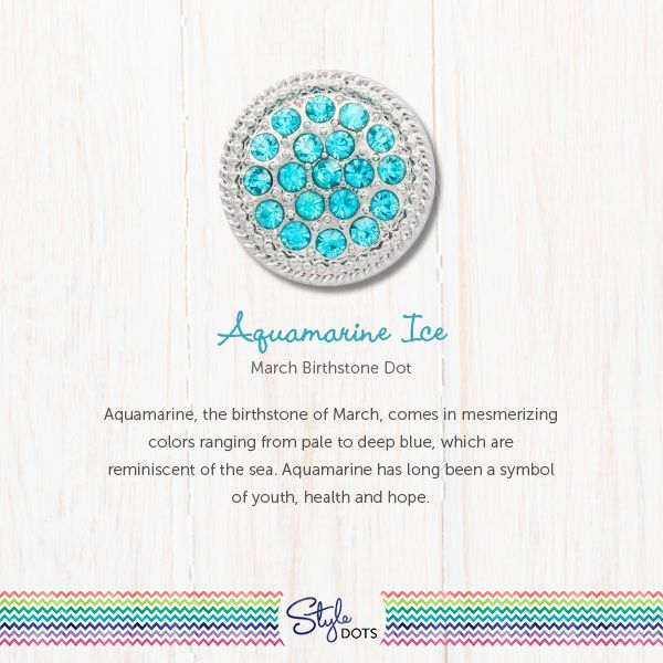 The Aquamarine Ice Dot in its silver textured setting, is not only the March Birthstone but also a favorite pick any time of the year.