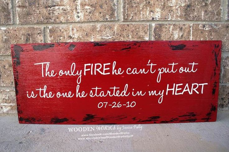 Firefighter Wife  Custom Wood Sign  18x8 WxH or by WoodenWorksbyJP, $16.00