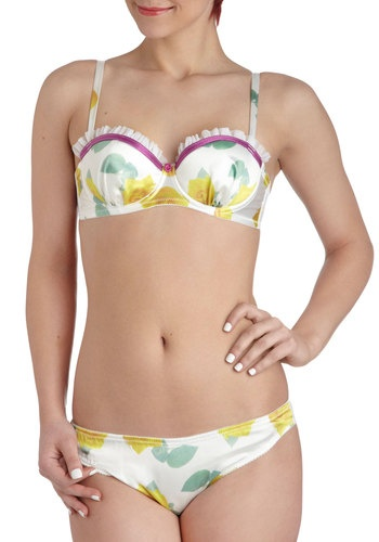 Private Dressing Bloom Balconette Bra in Day Roses, #ModCloth