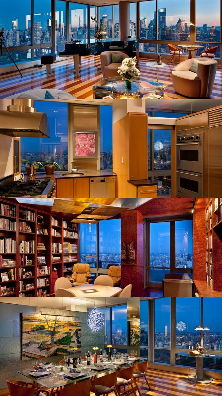Lincoln Center, New York Penthouse. Wouldn't this be a nice place to wake up in every morning.