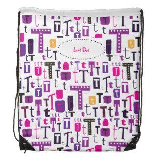 Customisable monogram letter T bag Backpacks