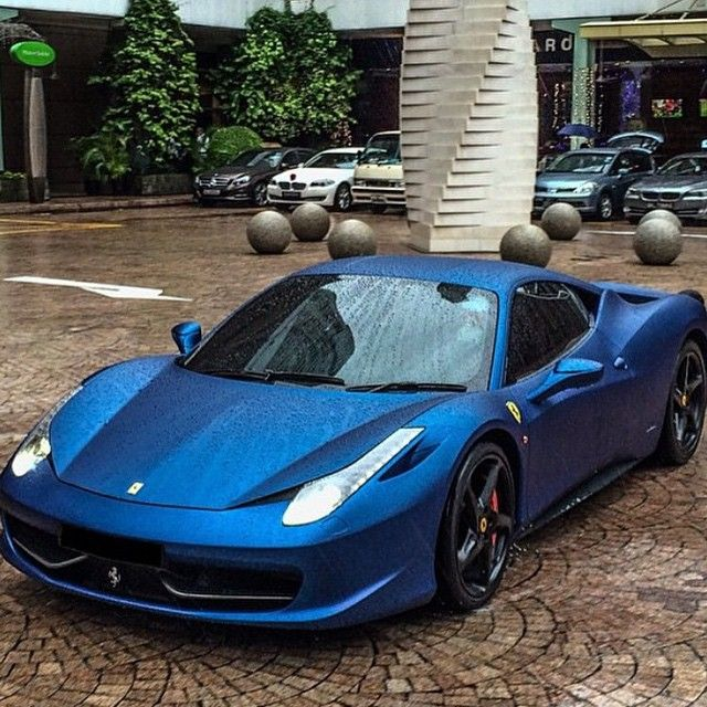 Matte Blue Ferrari 458 Italia                                                                                                                                                                                 More