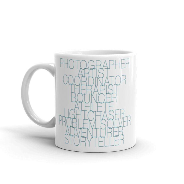 The Wedding Photographer Job Description Mug in Teal