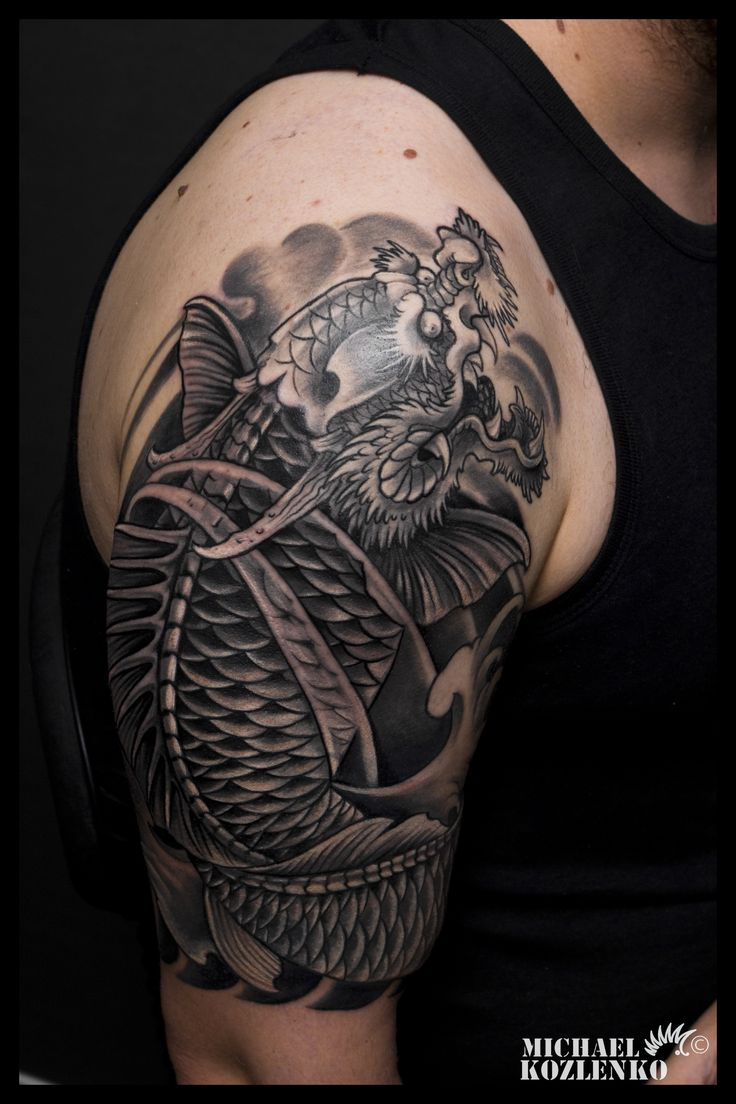 62 best images about tattoos on pinterest sugar skull for Koi fish head