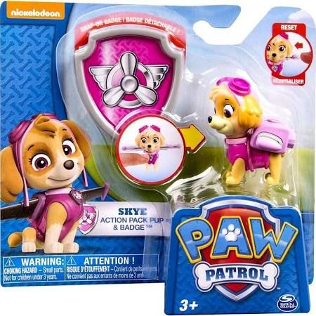 Nickelodeon Paw Patrol Skye Pup & Badge Action Pack