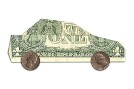 You can GIVE SOMEONE A CAR!  LOL ~ origami cash car with quarters for the wheels. (This links to 10 ideas to SAVE GAS  MONEY!)