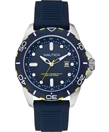 NAUTICA NSR 102 Blue Rubber Strap Η τιμή μας: 126€ http://www.oroloi.gr/product_info.php?products_id=38331