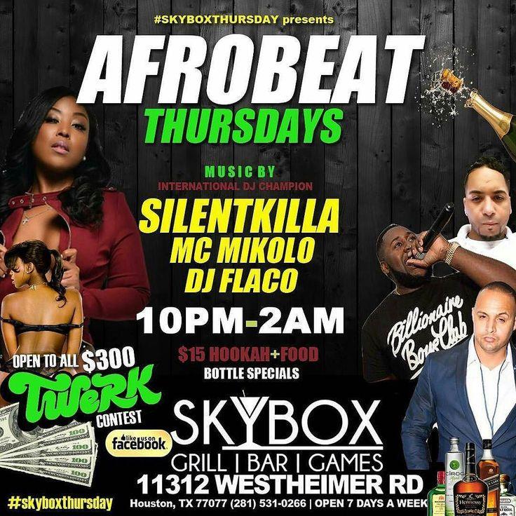 @skybox_bar_grill #houston #texas #at254us #december #sagittarius #thursday #kickinit #live #girls #diva #divas #nightlife #party #celebrate #twerk #afrobeat #ladies #drinks #drinkspecials #dresstoimpress #guys #ladies #drinks #grill #bar #games #skyboxthursday @wearmyvest