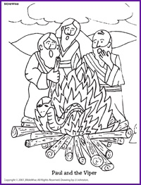 Coloring Pages Jesus Beatitudes And Paul The Viper