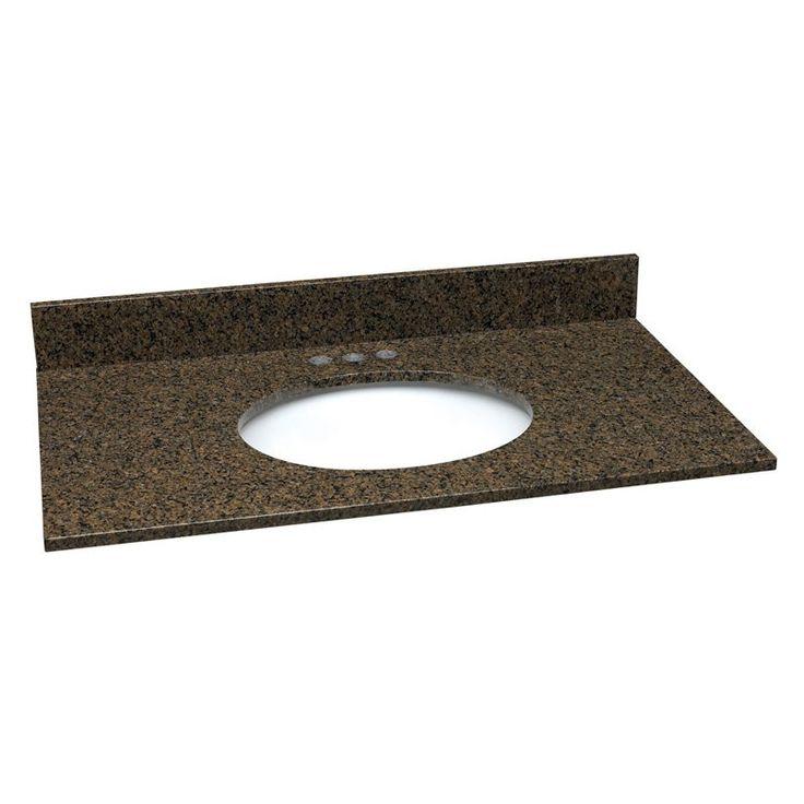 granite single sink vanity top