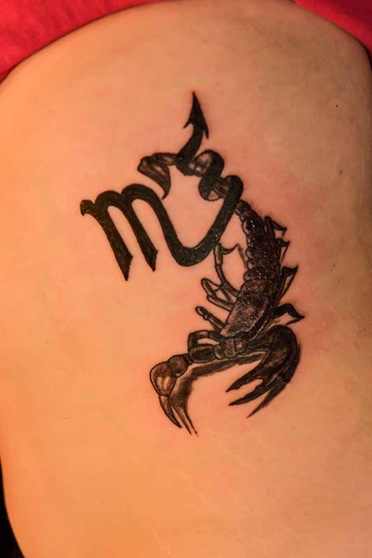 Scorpio Tattoo by Debi at the Illustrator Tattoo in Dallas Ga.