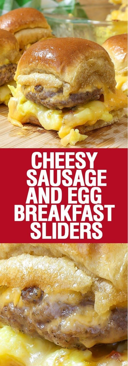 Cheesy Sausage and Egg Breakfast Sliders are a fully loaded perfectly portable hand held breakfast. All of your favorite breakfast fixin's come together with the most amazing and unexpected glaze to create the perfect Brinner (breakfast or dinner). We love these for game day and let me tell you they are amazingly convenient for tailgating! We love these sliders, Chad calls them a 'handful of yum'. Can't beat that endorsement!