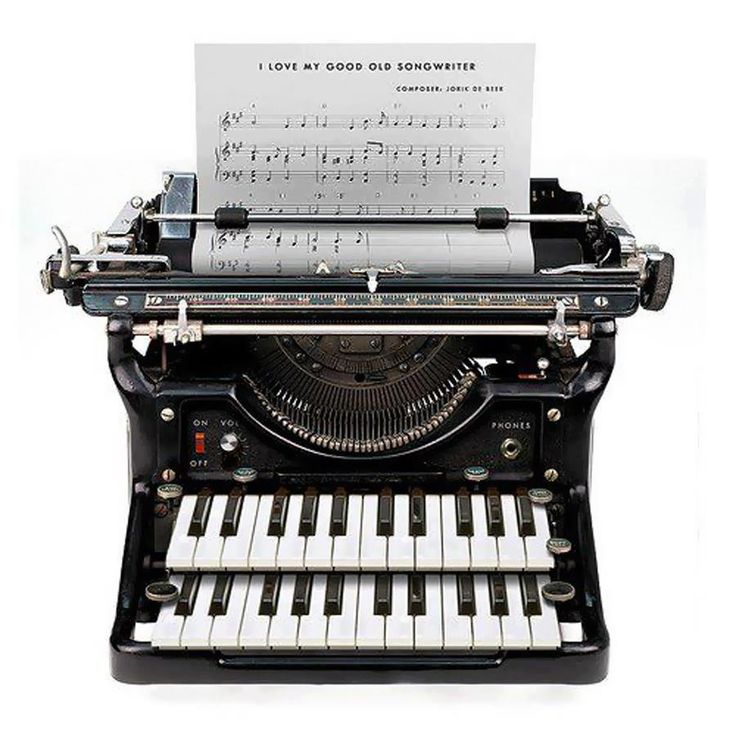 Very cool typewriter! A must for my music room!  Two of my favorite things put together!!!