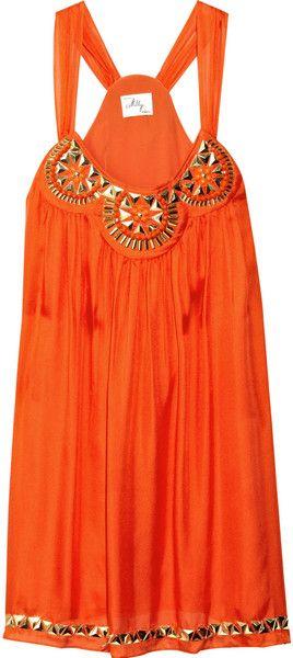 Orange, Summer Dresses, Trapeze Dresses, Style, Clothing, Millie Embellishments, Silk Trapeze, Embellishments Silk, Dreams Closets