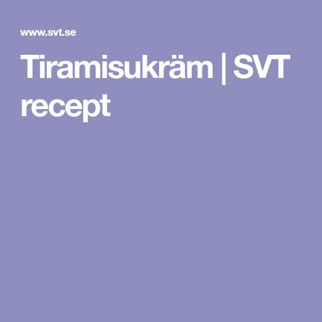 Tiramisukräm | SVT recept