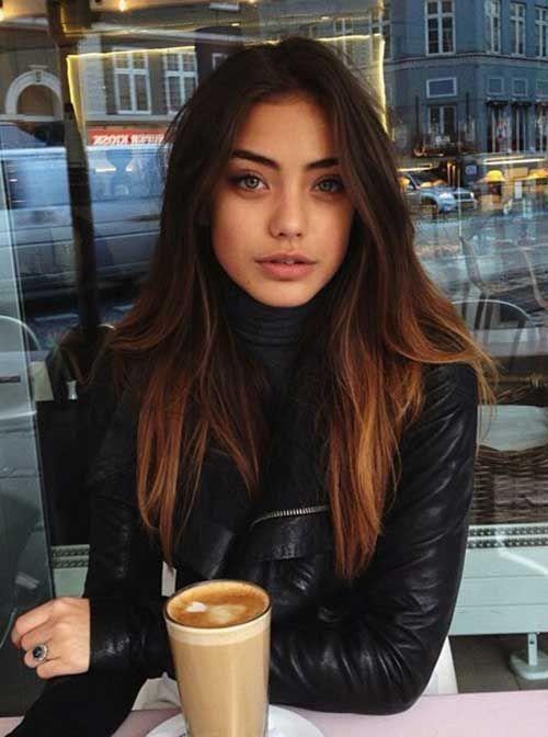 Long Dark Hair Color Idea Iced Coffe Hair Hair Balayage