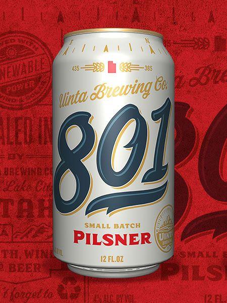 Uinta 801 Pilsner Can @Uinta Brewing - Earth, Wind and Beer. Salt Lake City, UT. #saltlakecity