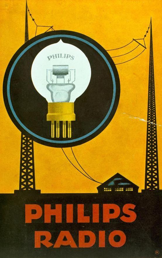 Philips Miniwatt Radio Tube poster ca 1931 | #history #proud