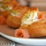 bignè salmone oriz