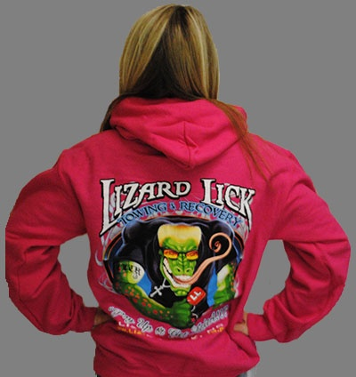 Lizard Lick Towing - Ronizard Pink Hooded Sweatshirt                                                       I WANT THIS SOOOO BAD