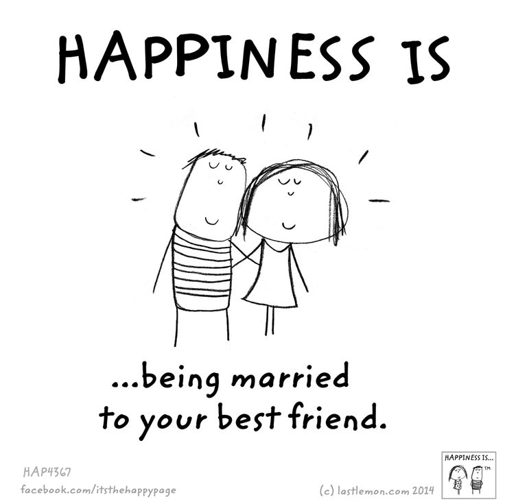… being married to your best friend