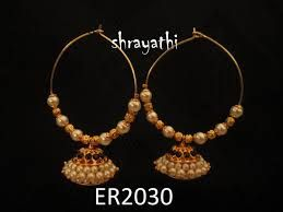 Image result for white pearl jhumka