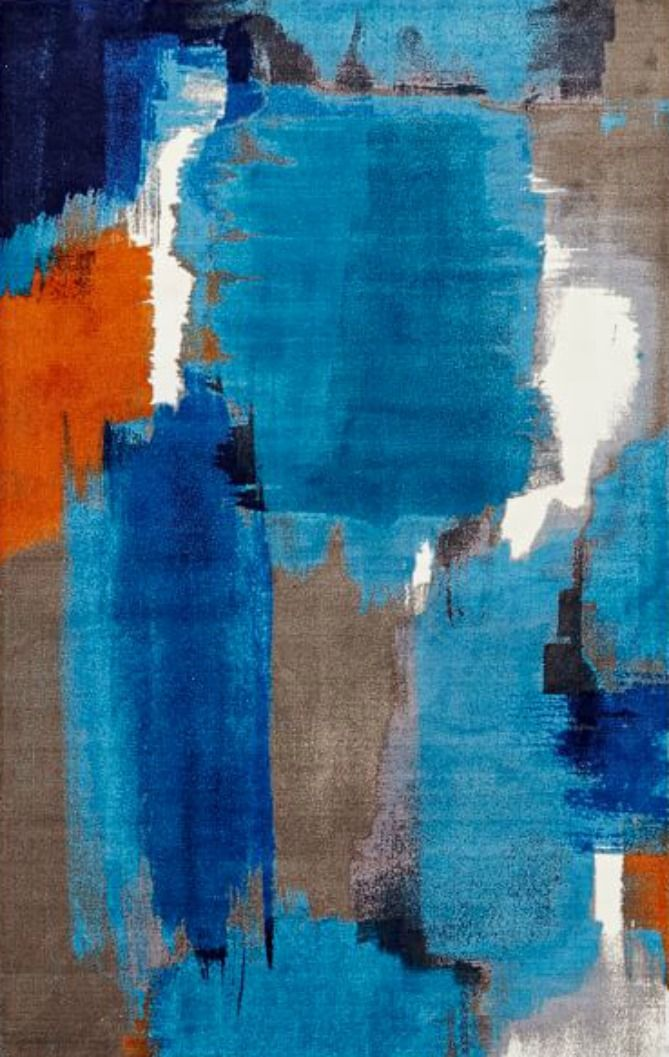 Abstract Contemporary Rug Painting