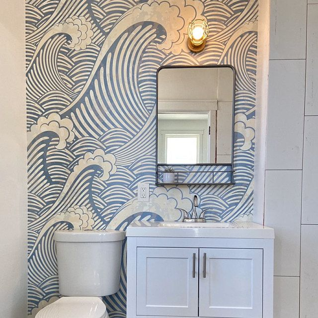 Removable Wallpaper Peel And Stick Wallpaper Wall Paper Wall Etsy In 2020 Small Bathroom Wallpaper Removable Wallpaper Peel And Stick Wallpaper