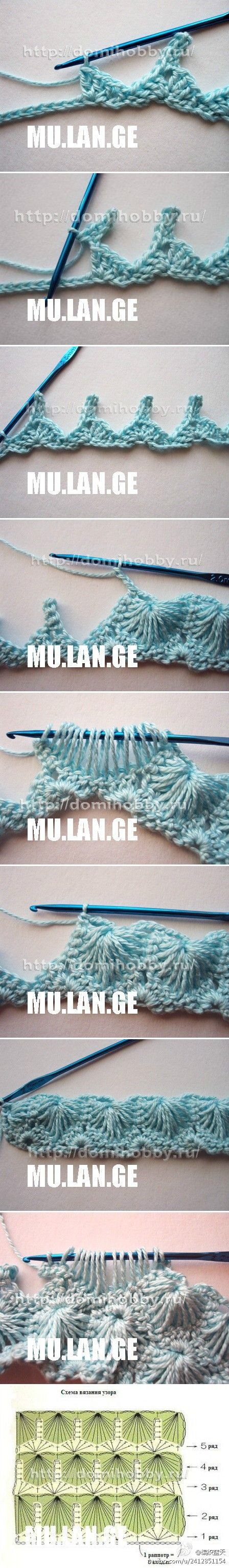 Very interesting and beautiful crochet stitch to try