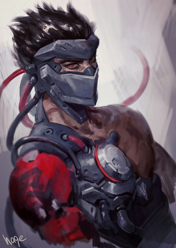 Gengi. The original artist did an amazing job(idk who it is since the original pinner didn't put the artist's name)