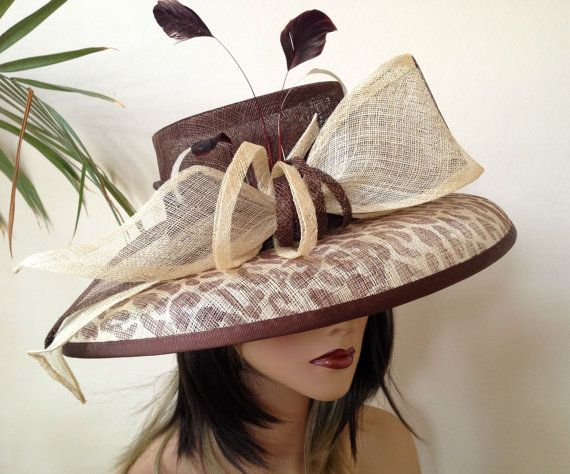 Kentucky Derby hat. Del Mar wide brim hat for  by AnnettesCouture