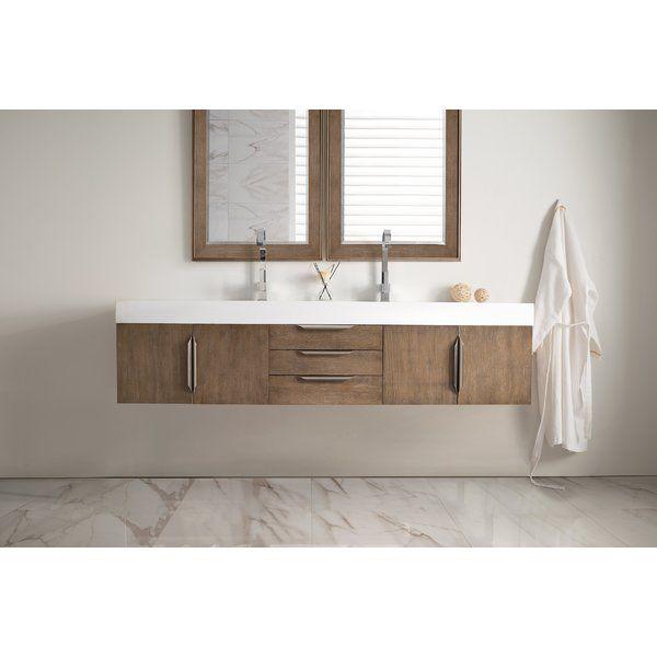 Miraculous Hukill 72 Wall Mounted Double Bathroom Vanity Set Beutiful Home Inspiration Truamahrainfo