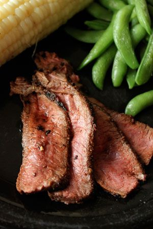 Dry Rubbed Pan-Fried London Broil