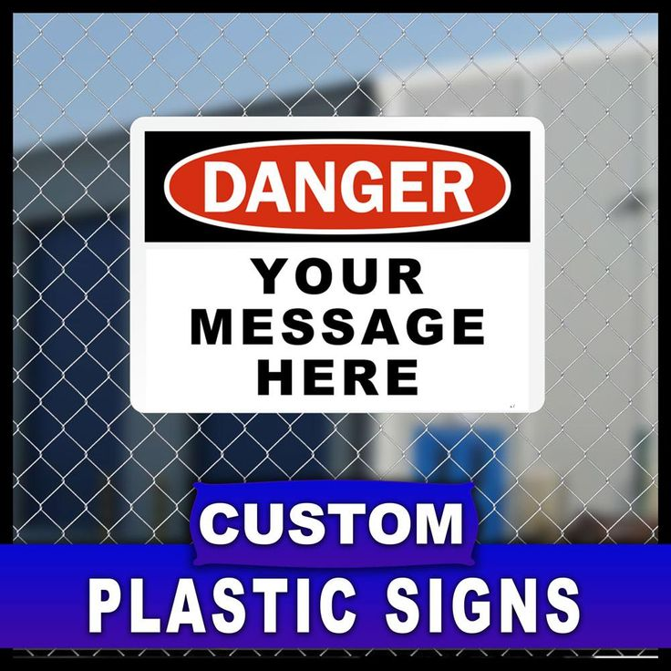 7 in. x 10 in. Custom Sign Printed on More Durable, Thicker, Longer Lasting Styrene Plastic, Unlimited Colors