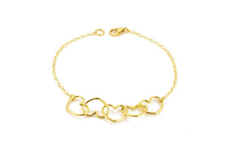 WRITTEN MULTI HEART BRACELET #lauragravestock #bracelet #fashion