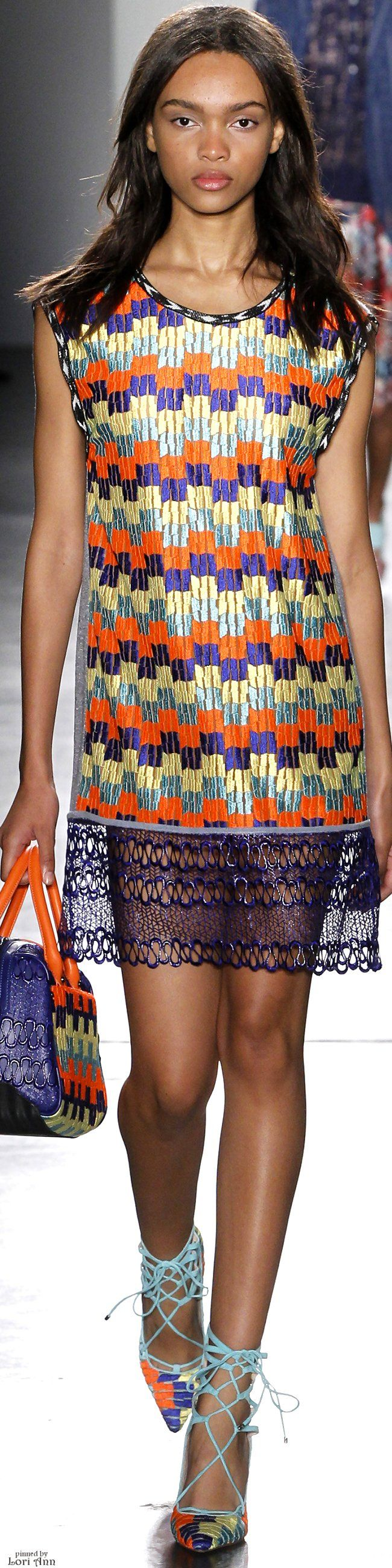 Custo Barcelona ~ Spring Multi color Mini Dress,  2016 RTW