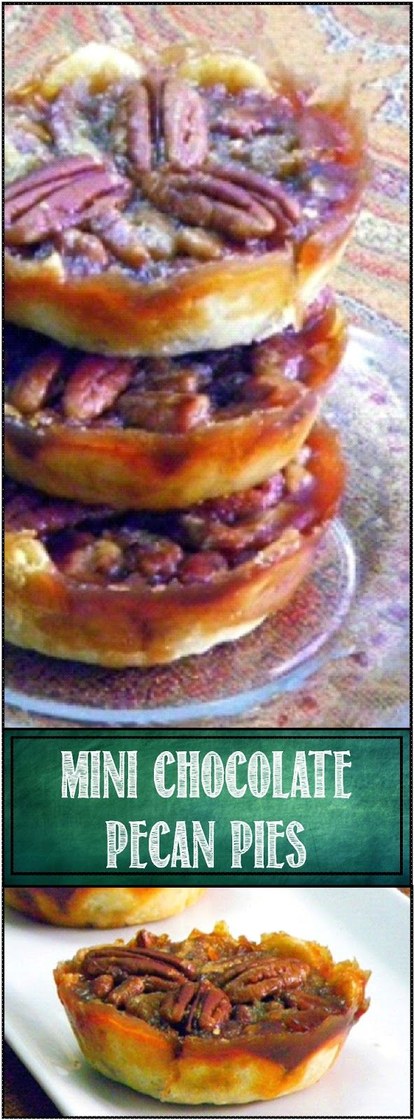 Mini Chocolate Pecan Pies, thanks to Oh NUTS! A wonderful little bite sized version of the Southern classic (ZINGED up with CHOCOLATE!). So easy and delicious, would make a great addition to any New Orleans themed Super Bowl Party!