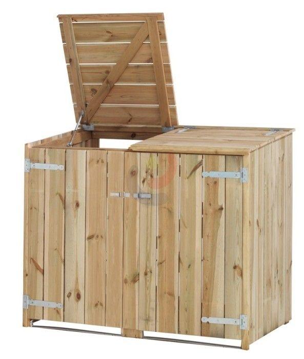 Containerberging Dubbel een kliko ombouw voor 2 container - LoRas.nl