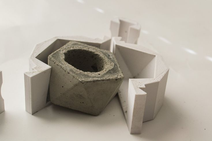 how to make concrete planter molds - Google Search