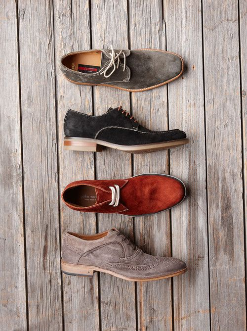 A selection of suede mens shoes