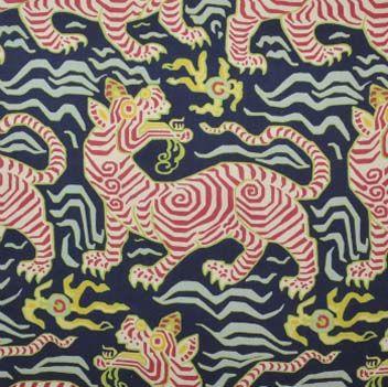 clarence house, tibet fabric, tiger fabric, tibetan fabric