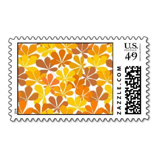 Chestnut tree autumn leaves postage stamps  #postage #stamp #stamps #zazzle #leaves #floral #leaf #nature