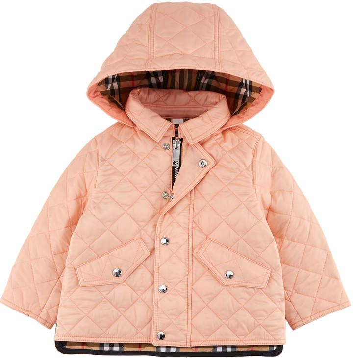 Burberry Ilana Quilted Hooded Coat Size 12m 3 Hooded Jacket Burberry Coat Burberry