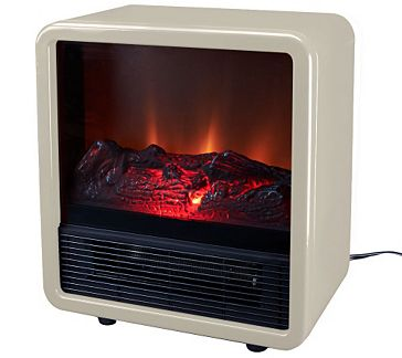 Awesome Duraflame 1500W Small Portable Heater With Realistic Flame Effect   V32925  U2014 QVC.com