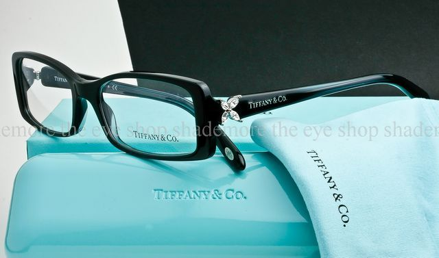 authentic tiffany co tf2043 b 8128 eyeglass frame crystal black swarovski 52mm eyewear latest trends and eyeglasses