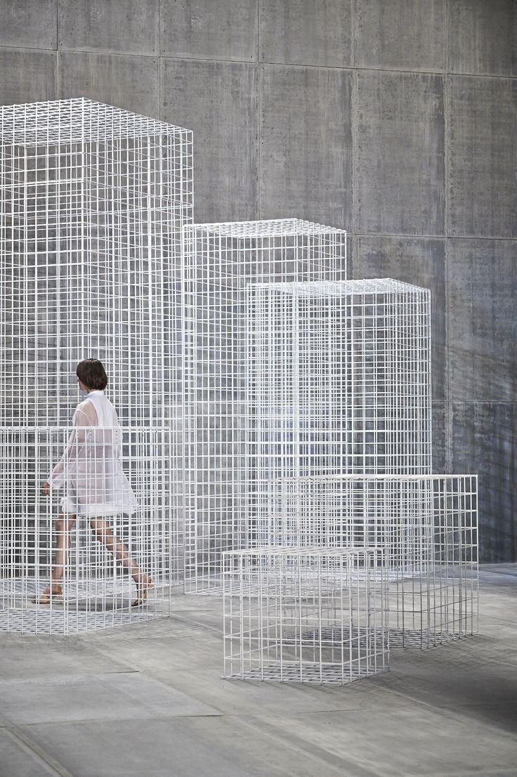 A Bureau Betak produced Dior show. Not technically a pavilion, but inspiration non the less. architecture, cube, modern, contemporary design, installment, art