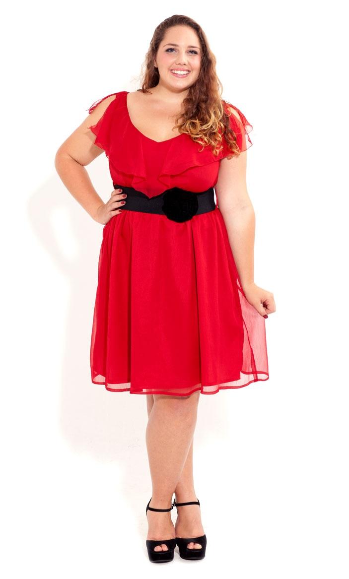 Plus Size Corsage Dress image