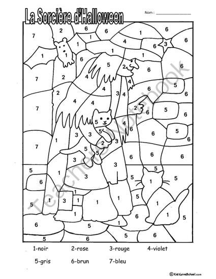 Halloween Colouring Activities and Haunted House Number Fun in FRENCH! from KidsLoveSchool! on TeachersNotebook.com -  (3 pages)  - This packet includes three handouts-two reinforce colours with the Halloween theme. The third reinforces numbers and Halloween while student decorate their own haunted house. Best of all it is ALL in FRENCH. Appropriate for grades 1-6 for both Core French